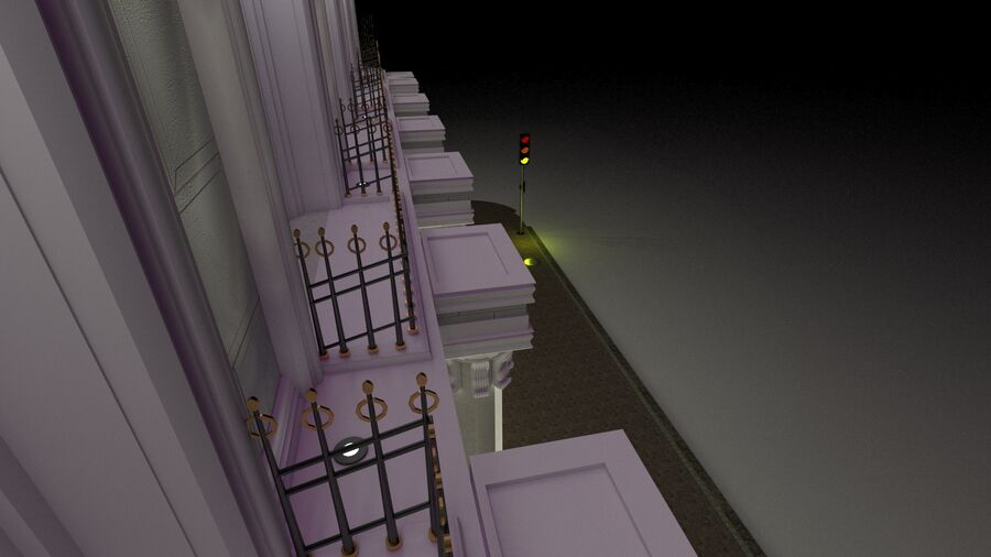 Neoclassic Architecture (Commercial Building) royalty-free 3d model - Preview no. 6