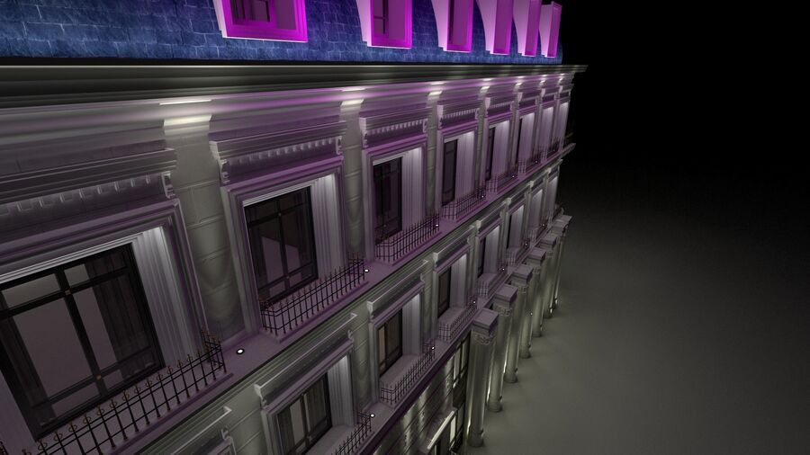 Neoclassic Architecture (Commercial Building) royalty-free 3d model - Preview no. 3