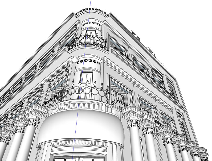 Neoclassic Architecture (Commercial Building) royalty-free 3d model - Preview no. 8