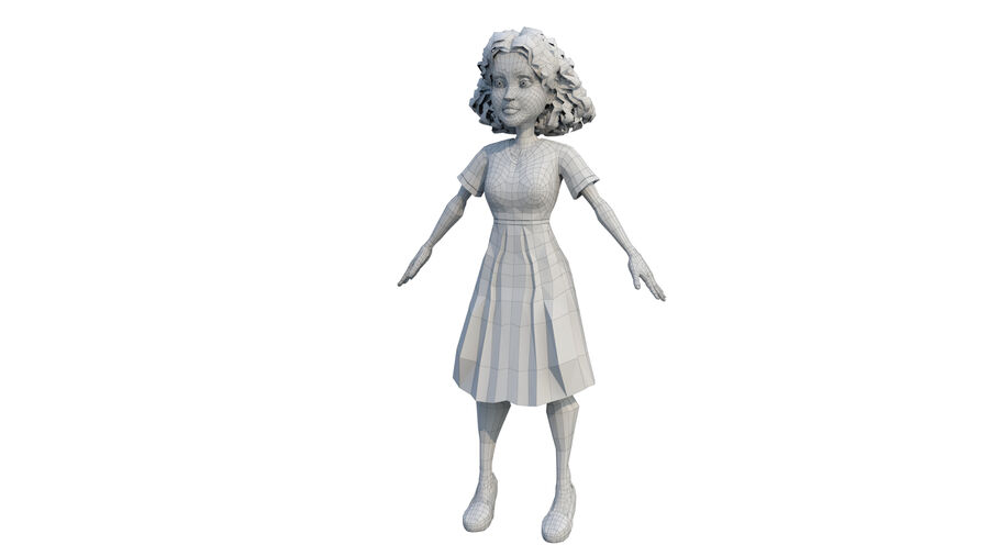 girl character royalty-free 3d model - Preview no. 5