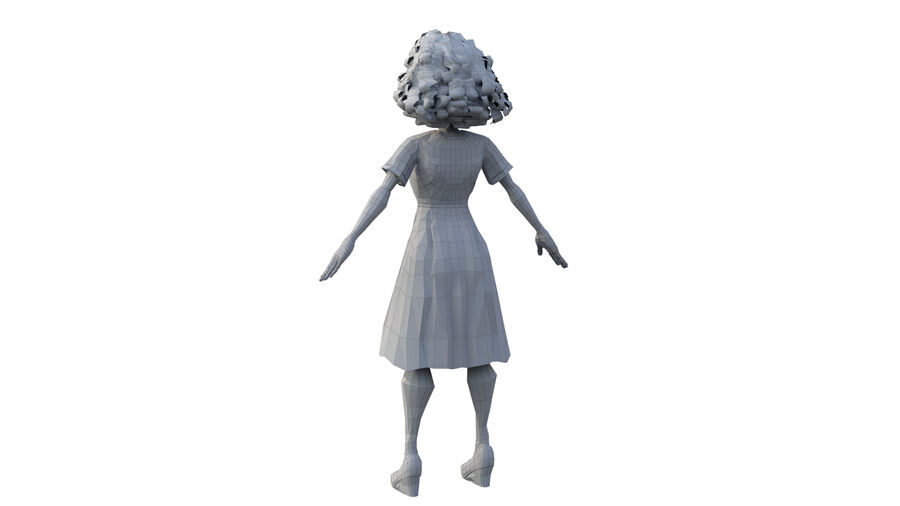 girl character royalty-free 3d model - Preview no. 6