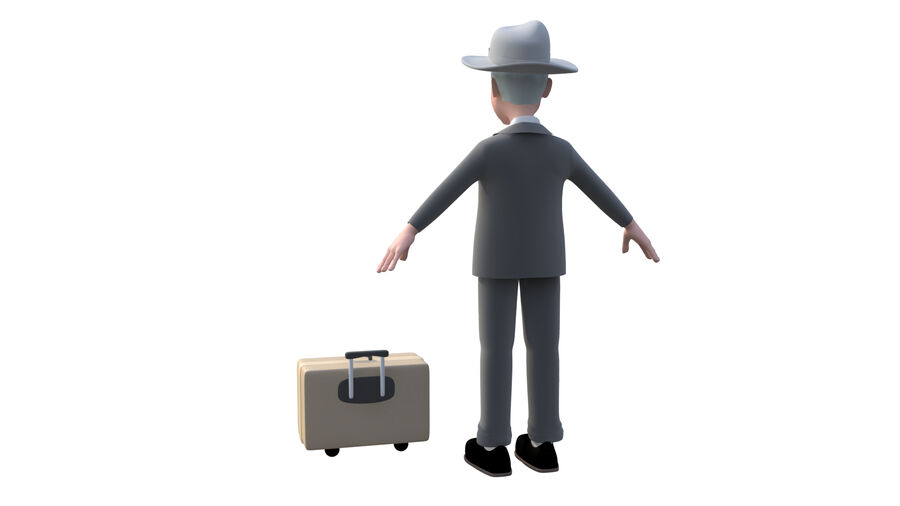 character royalty-free 3d model - Preview no. 3
