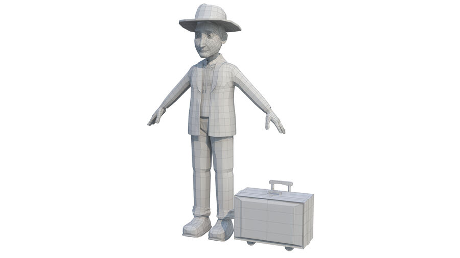 character royalty-free 3d model - Preview no. 5