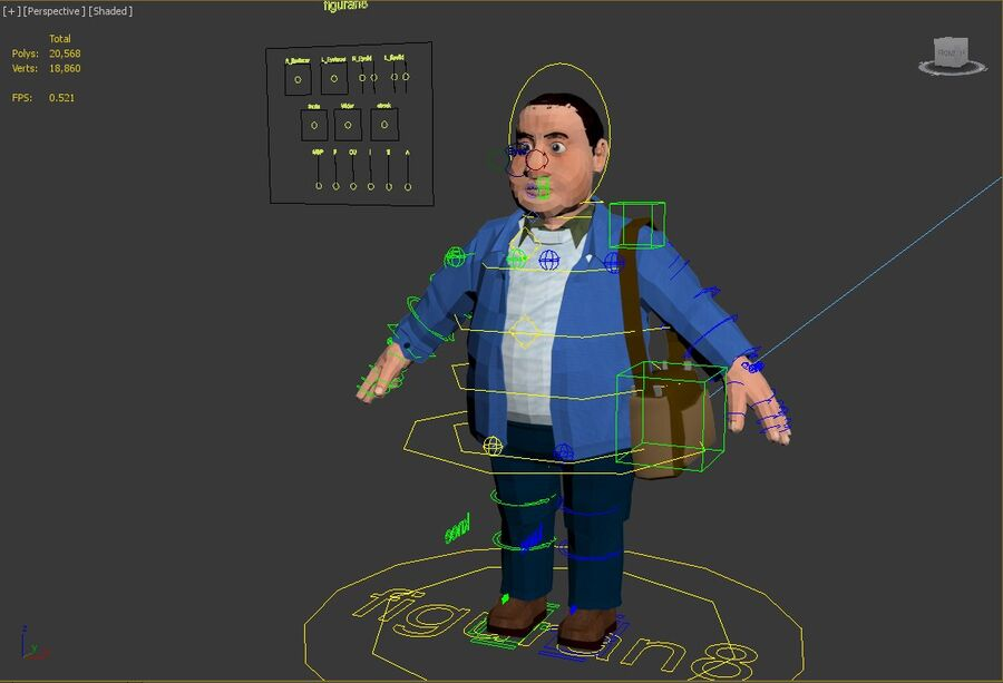character royalty-free 3d model - Preview no. 7