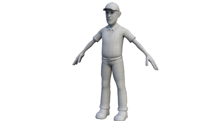 polis karaktär royalty-free 3d model - Preview no. 5