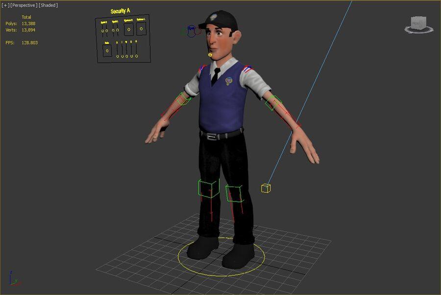 polis karaktär royalty-free 3d model - Preview no. 7