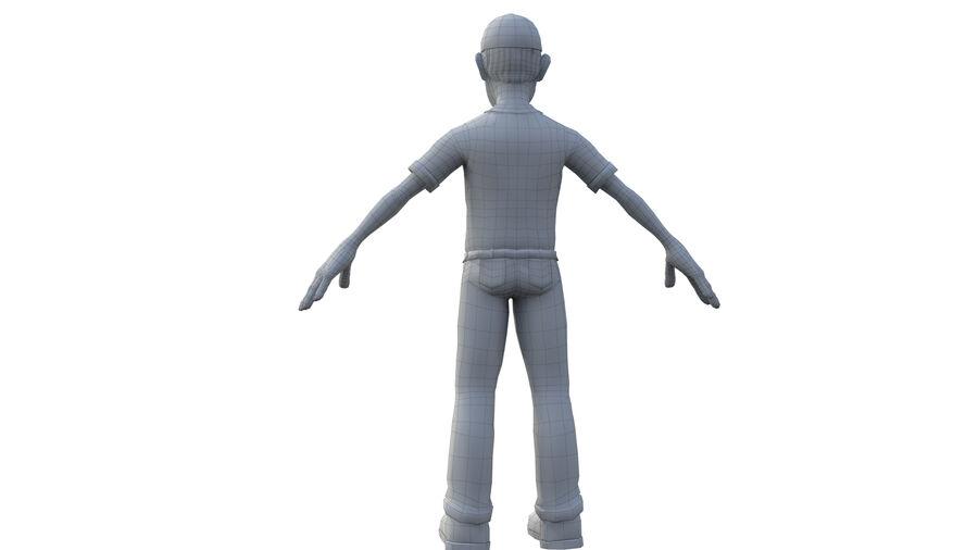 polis karaktär royalty-free 3d model - Preview no. 6
