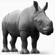 Bebé rinoceronte (esculpir) modelo 3d