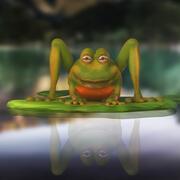Frog Cartoon 3d model