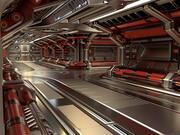 Научно-фантастический модульный коридор, стандартное издание 3d model