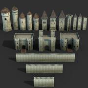 Ensemble de château 3d model