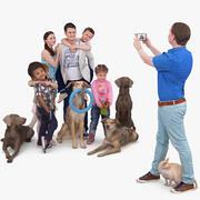 家族写真撮影 3d model