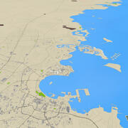 Mapa de ruas da cidade em 3D do Catar 3d model