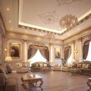 Sala de estar de lujo modelo 3d