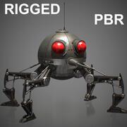 Карликовый дроид-паук RIGGED Maya 3d model