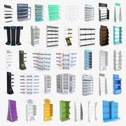 Collection de présentoirs et étagères de vente au détail 36 en 1 3d model