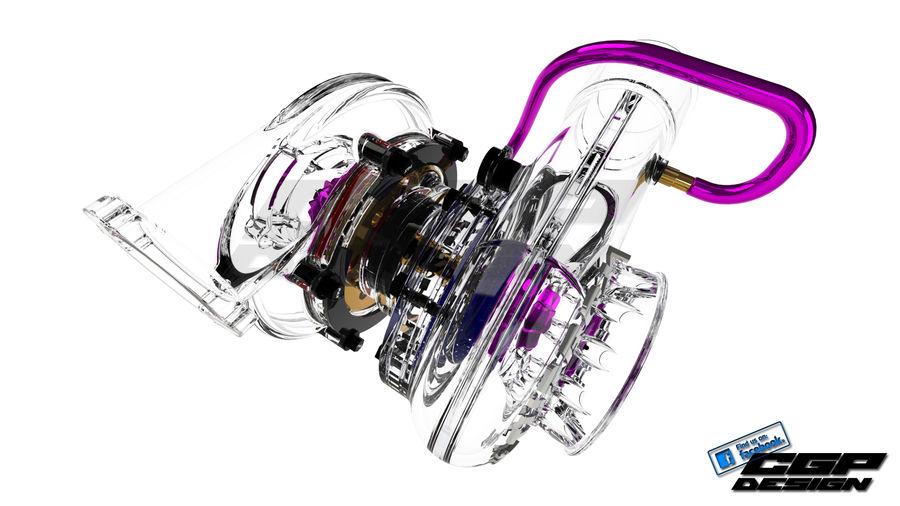 涡轮增压器先进的设计 royalty-free 3d model - Preview no. 4