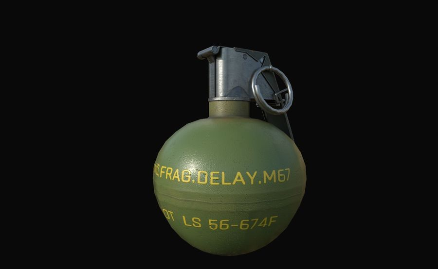 Des grenades royalty-free 3d model - Preview no. 13
