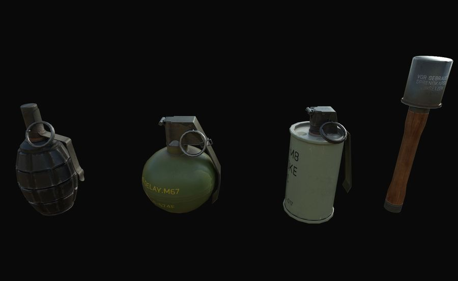 Des grenades royalty-free 3d model - Preview no. 4
