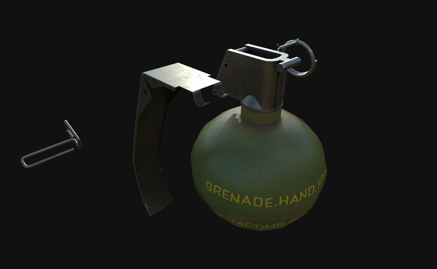Des grenades royalty-free 3d model - Preview no. 17