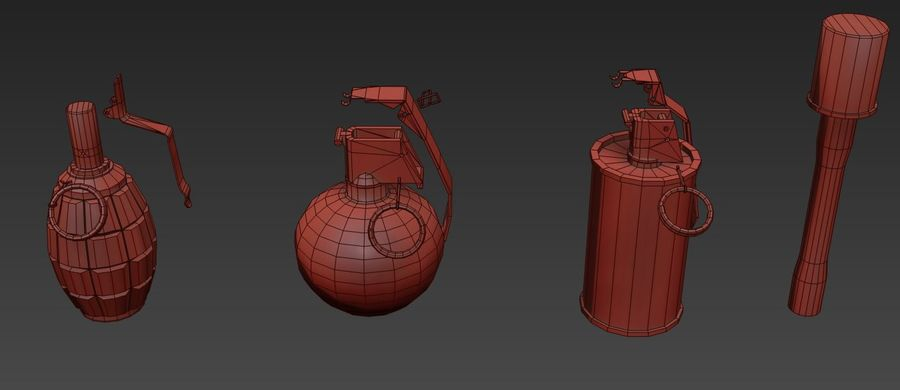 Des grenades royalty-free 3d model - Preview no. 24