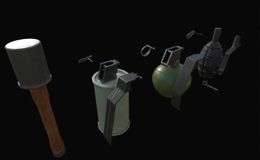 Des grenades royalty-free 3d model - Preview no. 3