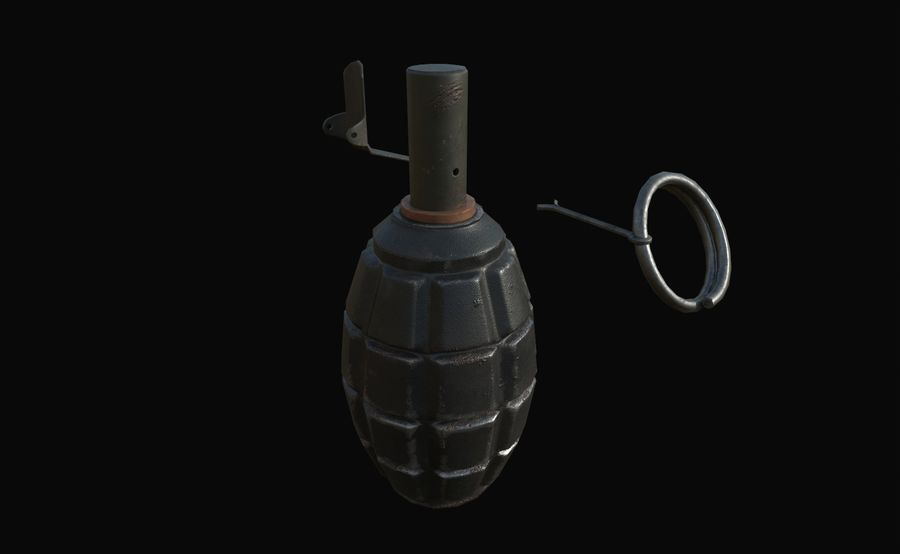 Des grenades royalty-free 3d model - Preview no. 21