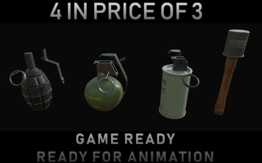Des grenades royalty-free 3d model - Preview no. 1
