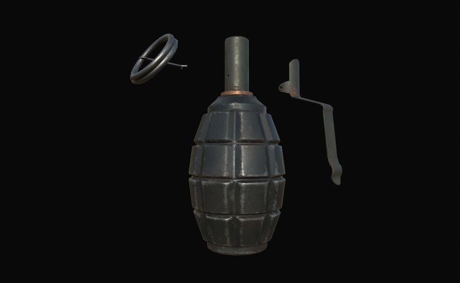 Des grenades royalty-free 3d model - Preview no. 23