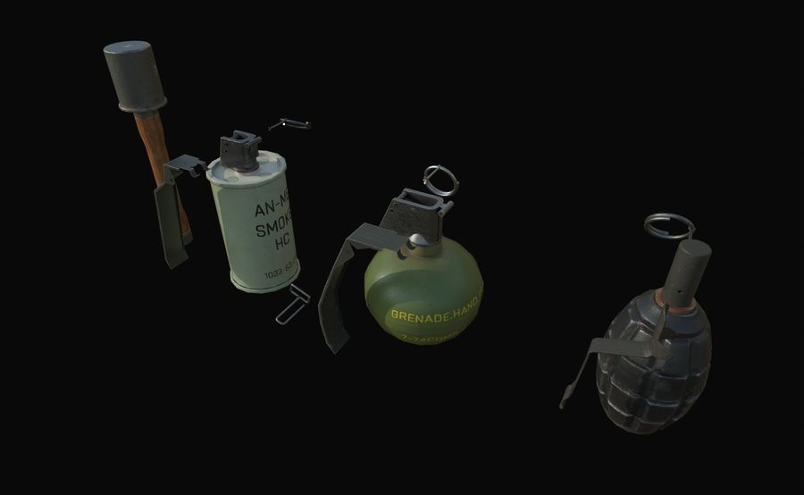 Des grenades royalty-free 3d model - Preview no. 2