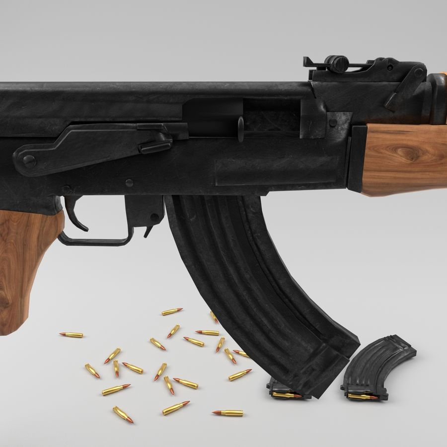 Ak-47 royalty-free 3d model - Preview no. 10