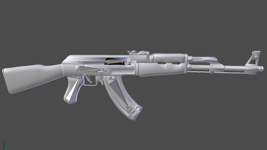Ak-47 royalty-free 3d model - Preview no. 18