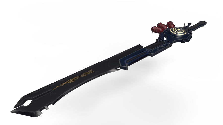 Fantasie zwaard royalty-free 3d model - Preview no. 1