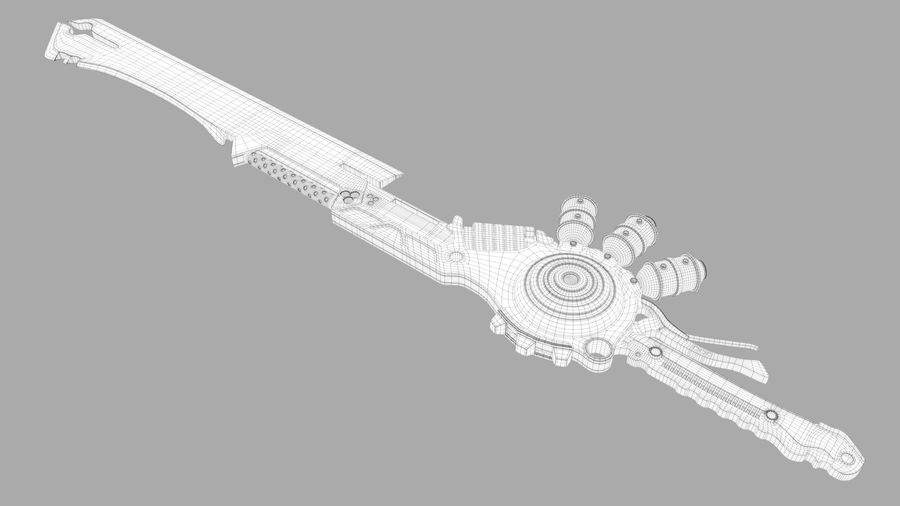 Fantasie zwaard royalty-free 3d model - Preview no. 8