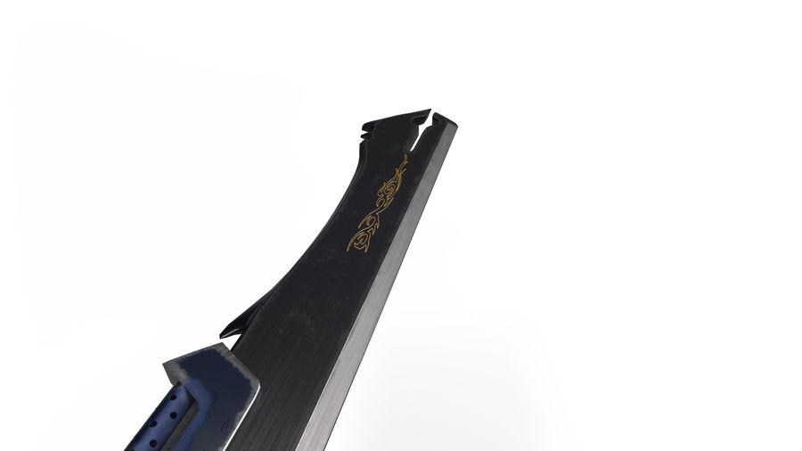 Fantasie zwaard royalty-free 3d model - Preview no. 4