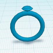 Bague de diamant de doigt 3d model