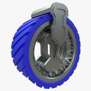 Wheel for lunar vehicle 3d model