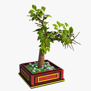 일본 나무 3d model
