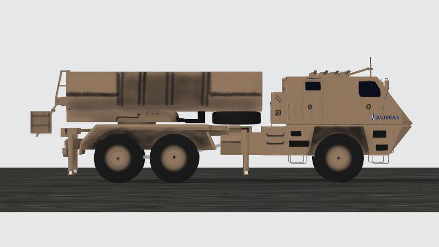 Avibras Astros II MLRS Irak royalty-free 3d model - Preview no. 3