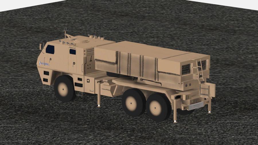 Avibras Astros II MLRS Irak royalty-free 3d model - Preview no. 7