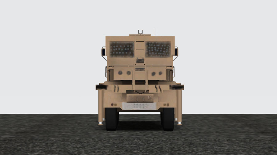 Avibras Astros II MLRS Irak royalty-free 3d model - Preview no. 4
