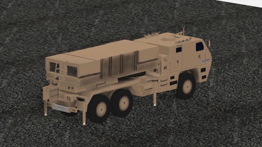 Avibras Astros II MLRS Irak royalty-free 3d model - Preview no. 6