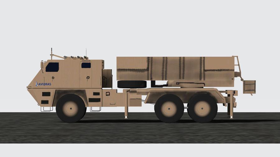 Avibras Astros II MLRS Irak royalty-free 3d model - Preview no. 1