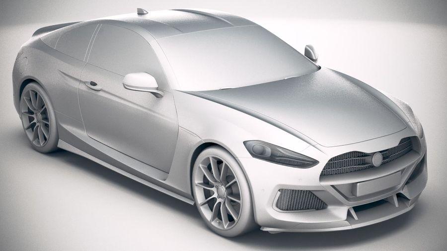 Дженерик Купе 2019 royalty-free 3d model - Preview no. 24
