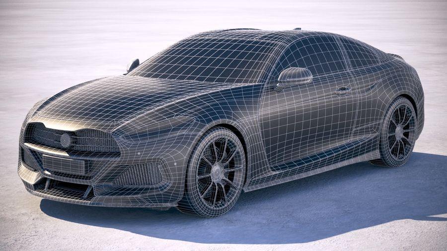 Дженерик Купе 2019 royalty-free 3d model - Preview no. 29
