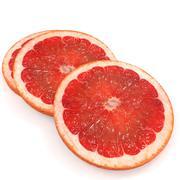 Grapefruit slice realistic 3d model