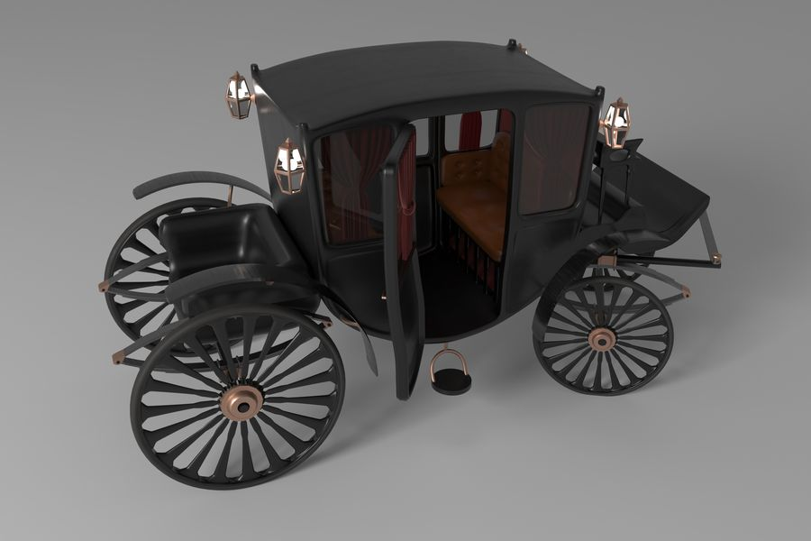 Voiture de luxe vintage royalty-free 3d model - Preview no. 1