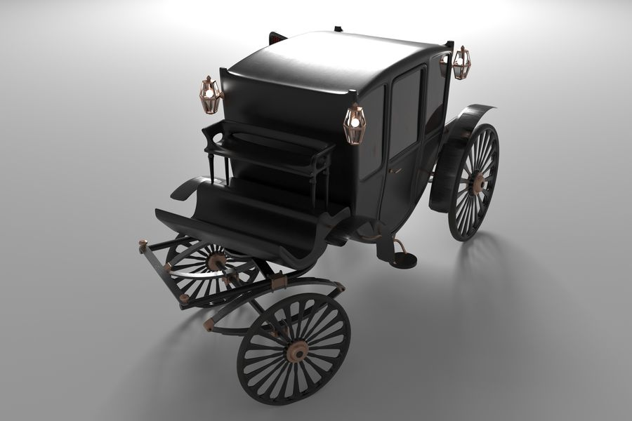 Voiture de luxe vintage royalty-free 3d model - Preview no. 4