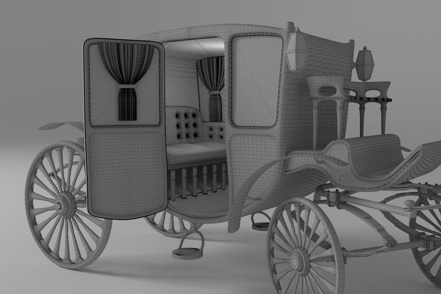 Voiture de luxe vintage royalty-free 3d model - Preview no. 19