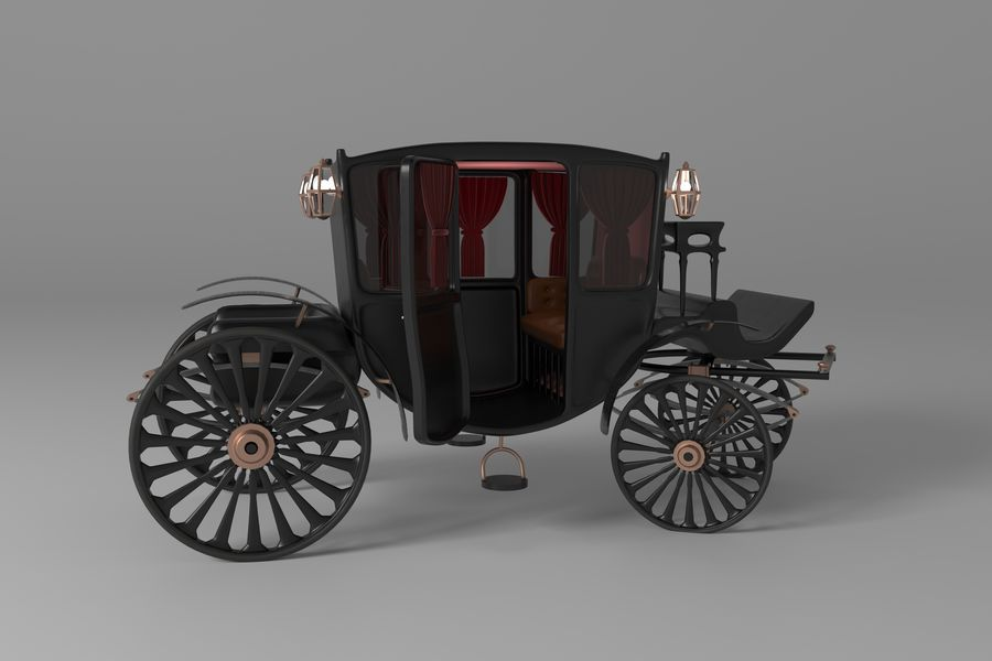 Voiture de luxe vintage royalty-free 3d model - Preview no. 8